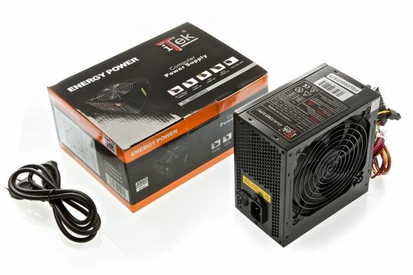 Alimentatore energy k-series 550w atx - full black, retail