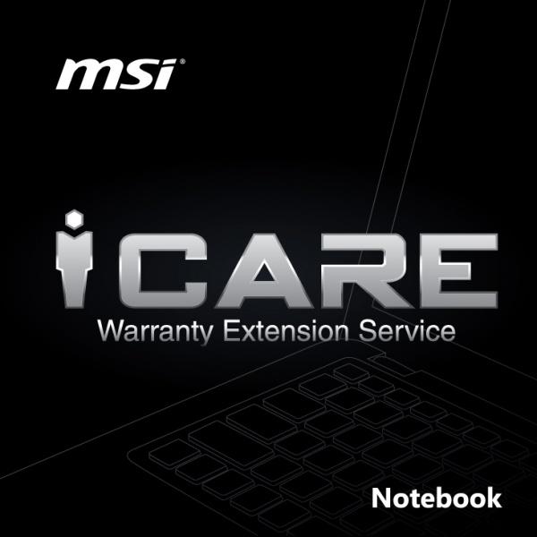 1y extension warranty card - estensione garanzia msi -