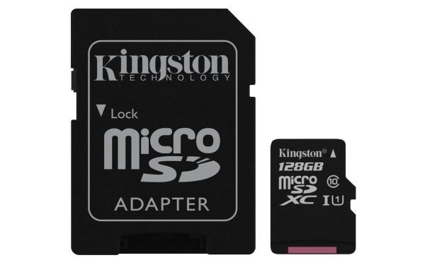 Micro sdhc 128gb class 10 con adattatore