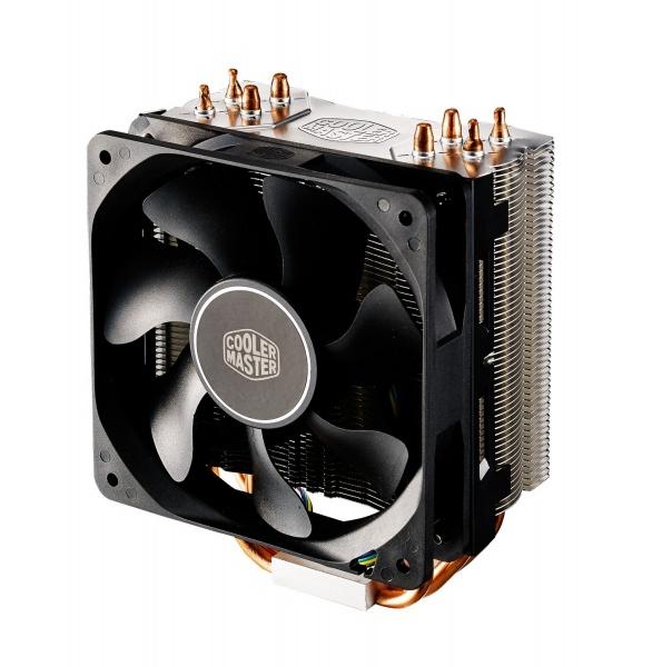 Ventola hyper 212 x, tower, 120mm 600-1700rpm pwm fan, 4 x 6mm cdc heatpipes, full socket support