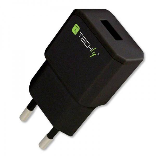 Alimentatore per Smartphone da presa Italiana 1 porta USB 5V/2.1A Nero