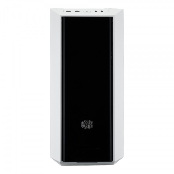 Case masterbox 5, 2usb3,audio i&o,2x2.5/3.5,1xssd,120mm rear fan,radiator supp.,no psu,window,white w/dark mirror front panel