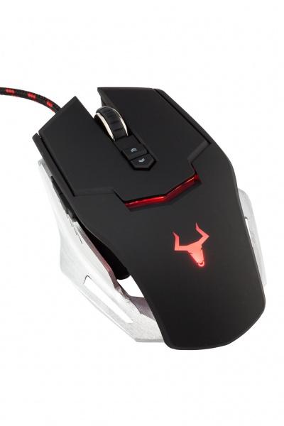 Mouse gaming itek taurus g78 - 3500dpi, software per macro, illuminazione multicolor, ergonomico