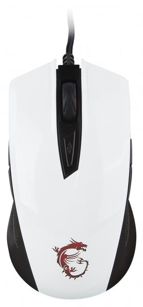 Mouse gaming clutch gm40 white usb con filo 3600dpi 9 tasti