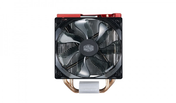 Ventola hyper 212 led turbo red cover, tower, 2x 120mm 600-1600rpm pwm fan with red led, 4x 6mm dc heatpipes, full socket