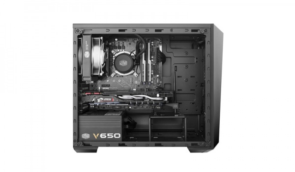 Case mini-tower no psu masterbox lite 3.1 1usb3 1usb2 black window