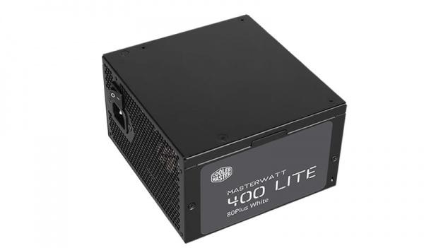 Alimentatore masterwatt lite 400w - 230v (80plus white), active pfc, silent 120mm hdb fan, green power, cavi sleevati