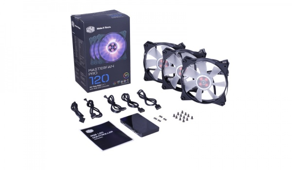 Ventola masterfan pro 120 rgb 3in1 pack 3 ventole 120mm rgb controller