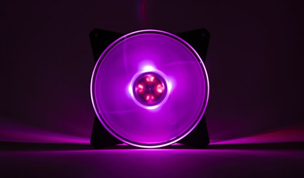 Masterfan pro 140 air flow rgb pack, ventola 140mm led, 650  1500 rpm, 3in1 con controller rgb