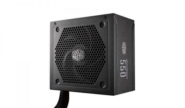 Alimentatore masterwatt 550w - 80plus bronze, active pfc, silent 120mm ldb fan, semi modulare