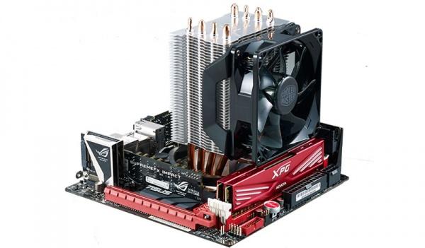 Ventola hyper 411r universal incl. lga 2066, 4x 6mm heat pipes, 92mm pwm fan, 600-2000 rpm pwm, white led fan