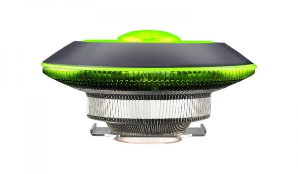Ventola masterair g100m, heat column, rgb ring, low profile, wired rgb controller, 100*25mm, 6002400 rpm (pwm)
