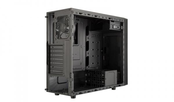 Case masterbox e500l, silver,steel side panel,2usb3,audioi&o,1x 5,25 2x 2.5 2x 3.5,120mm rear fan,radiator supp.,no psu