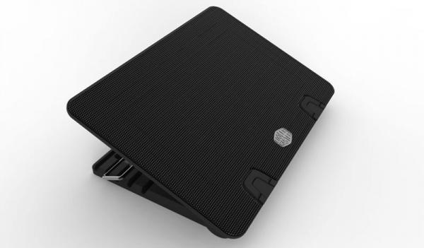 Notepal ergostand iv - up to 17, metal mesh, 140mm fan, blue led strip, 4xusb 1xminiusb 1xmicrousb, regolabile in 5 altezze