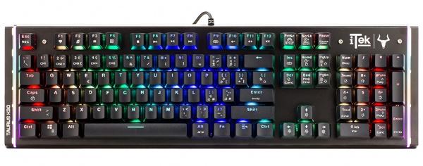Tastiera gaming itek taurus x30 - meccanica, switch blu, rgb, tasti macro, special design