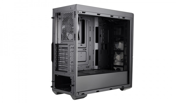 Case masterbox k500l, acrylic side panel,2usb3,audio i&o,2x 3.5hdd,1x 2.5ssd,2x 120mm front red led fan,no psu