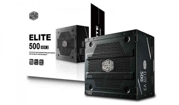 Alimentatore 500w elite v3 pfc attivo 1-fan 120mm
