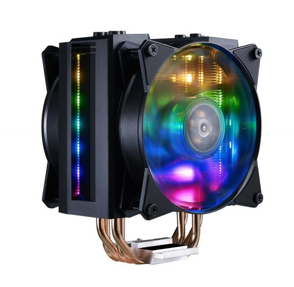 Ventola masterair ma410m, 120*25mm pwm fan, 600-1800rpm, 4x hp, addressable rgb led