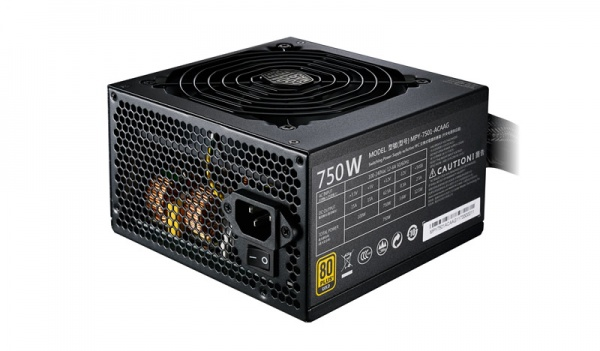 Alimentatore mwe gold 750w - 80plus gold, active pfc, 120mm fan