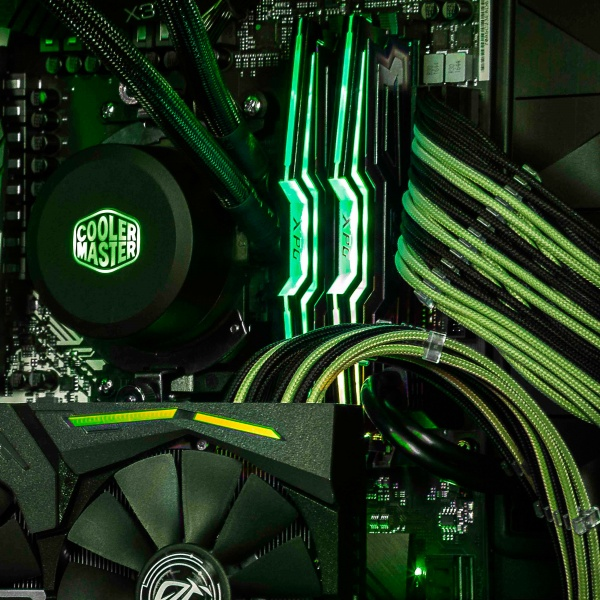 Cooler master cavo sleevato  green & black