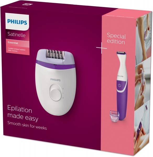 Philips satinelle essential kit epilatore + rifinitore bikini