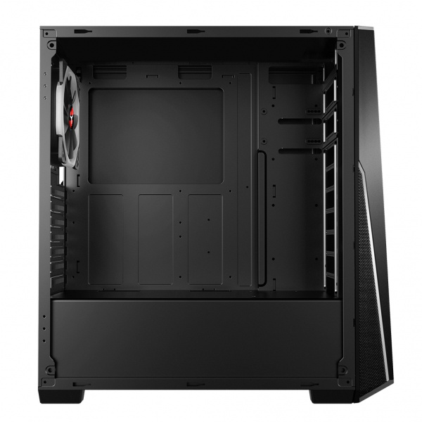 Case t-mask r2 - gaming middle tower, 2xusb3, 12cm argb fan, side panel temp glass
