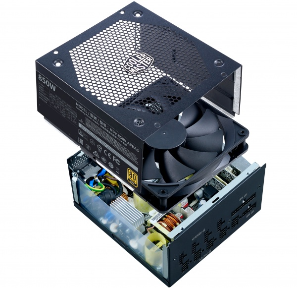 Alimentatore v850 gold v2, 850w 80plus gold 135mm fan modulare