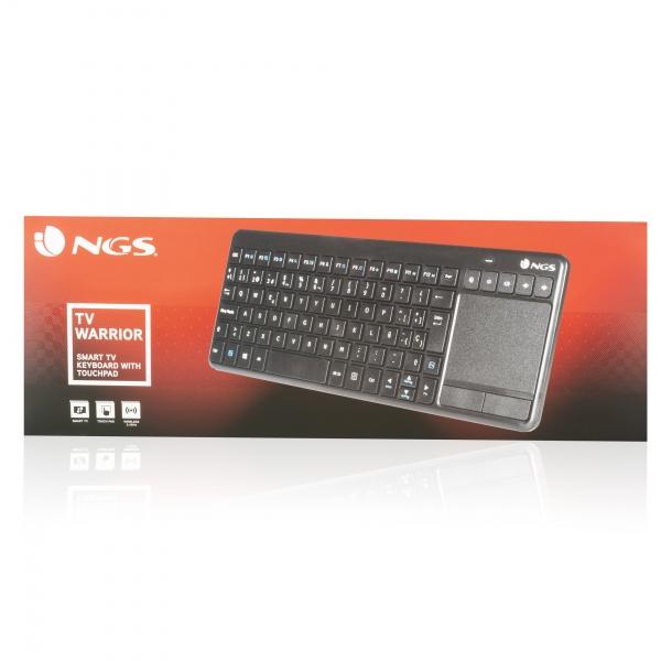 Ngs tastiera tv warrior wireless 2.4ghz multimediale touchpad 8435430613308