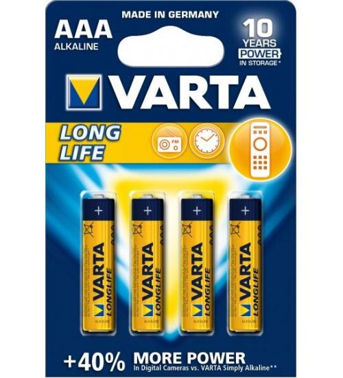 Batteria ministilo aaa lr03 long life 1,5v 4pz varta