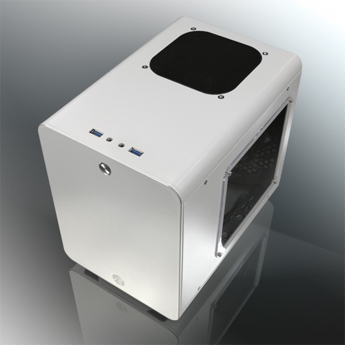 Raijintek case mini-itx metis plus bianco alluminio finestra 0r200061