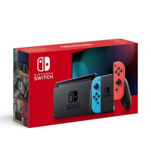 Nintendo switch + joy-con rosso/blu neon ver 1.1 new model