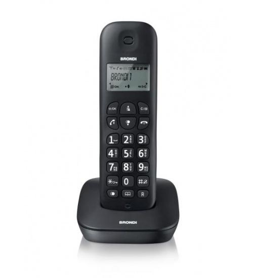 Telefono cordless brondi gala rubrica/lista chiamate/blocco tasti