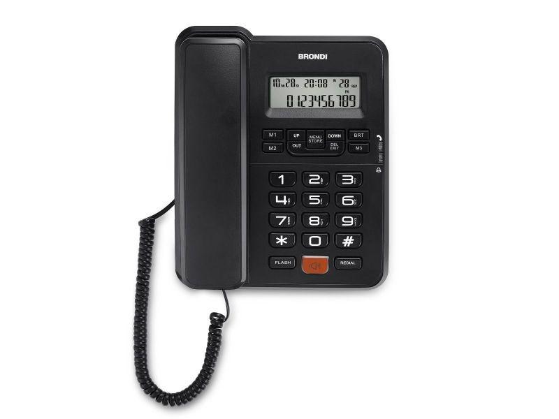 Telefono fisso brondi office desk id chiamate/vivavoce/lista chiamate