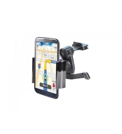 Supporto auto smartphone airy bk c/attacco ventola aria adj