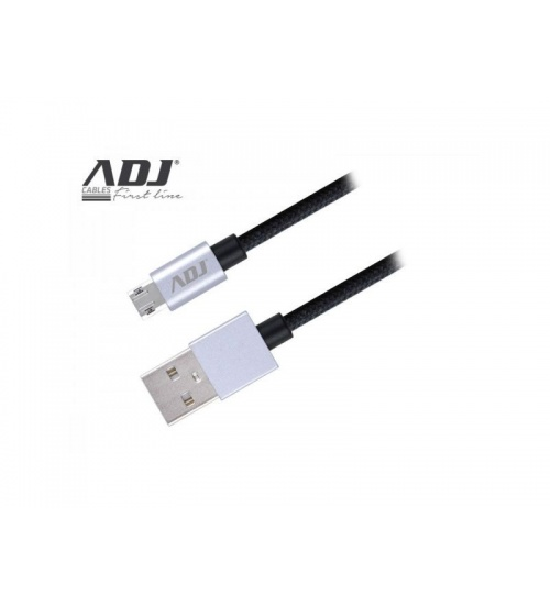 Cavo usb 2.0 a-micro a 1,5mt bk nylon/conn.reversibili ai219 adj