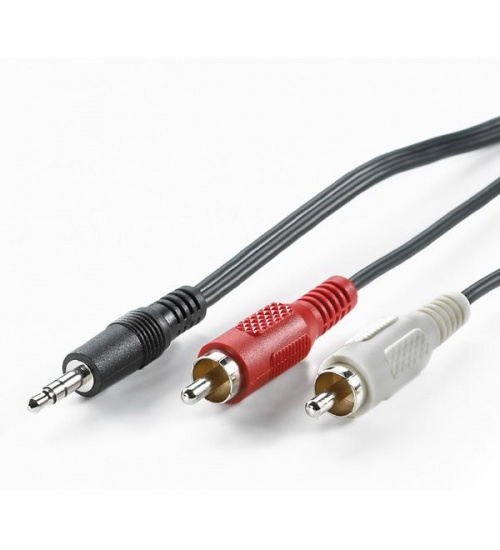 Cavo 3,5mm-2rca 1,5mt m/m bk/rd/wh value