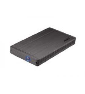 Box per hard disk esterno adj modello ah650 stone - formato 2.5`` sata - interfaccia usb 3.0 - capacità max 1 tb (hdd 12.5mm) - involucro in alluminio e plastica - office series - colore grigio