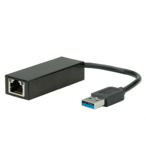 Convertitore usb 3.0-gigabit lan ethernet adpt con cavo value