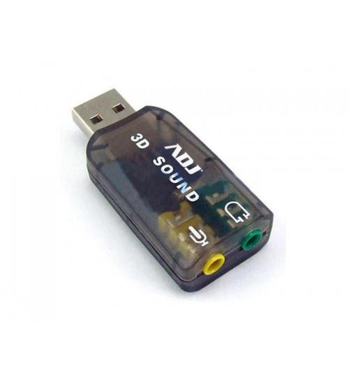 Scheda audio 2.1 3d usb 2.0 bk win7-10/macos9.1/linux adj