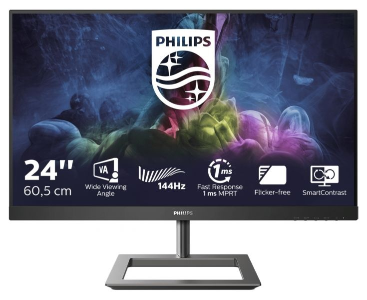 Mon 23.6va  dp hdmi mm 144hz 1ms philips 242e1gaj/00o gaming