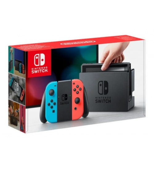 Nintendo switch + joy-con rosso/blu neon