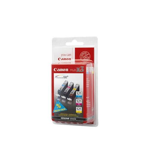 Cartucce originali canon multipack cli-521 (ciano, magenta, giallo) 2934b010aa