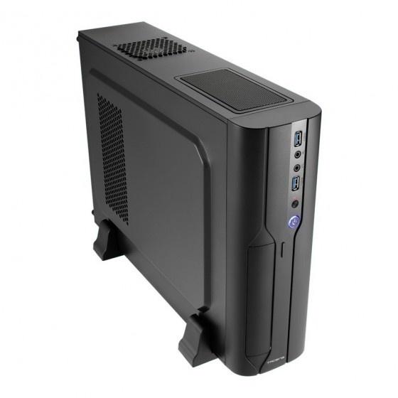 Tacens orum iii 500 case slim micro atx-mini itx black con alimentatore anima eco smart 500w