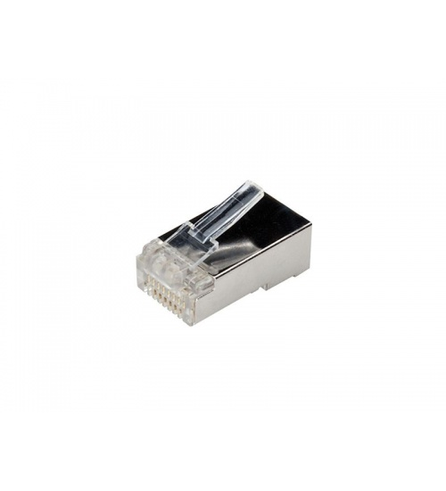Plug rj45 rete cat.6 ftp transparet conf. 10pcs adj