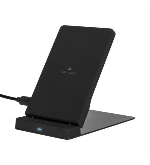 Stand Carica batteria wireless 10w black xq fast xqisit per samsung e apple