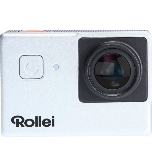 Action camera rollei uhd 4k 25fps 525 argento wifi+accessori