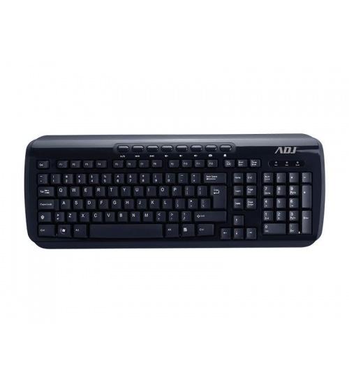 Tastiera usb multi shine ta218 bk 112tasti 8tastimulti plug&play adj