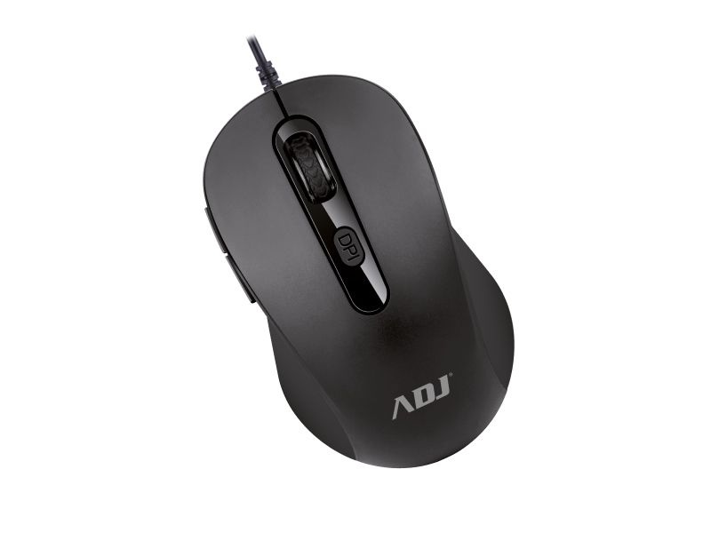 Mouse usb ottico 6d evo pure bk 1000 dpi 6 tasti plug&play adj