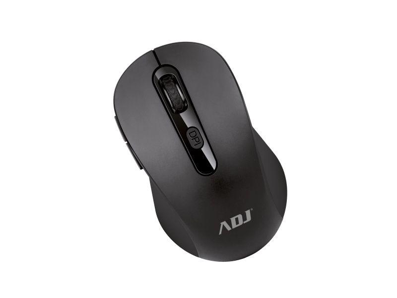 Mouse wireless ottico evo pure bk 1000 dpi 6 tasti con ricevitore adj