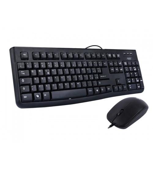 Tastiera/mouse kit usb 3d kt131 bk 1000dpi 105tasti ottic plug&playadj
